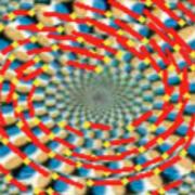 深層学習によって「蛇の回転錯視」の知覚再現に成功