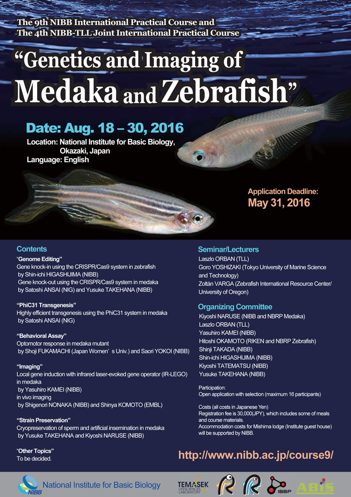 """Genetics and Imaging of Medaka and Zebrafish"""
